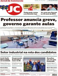 Capa do jornal Jornal do Commercio 20/10/2020