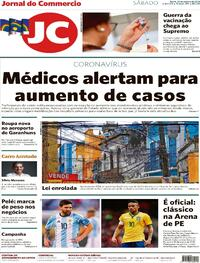 Capa do jornal Jornal do Commercio 24/10/2020