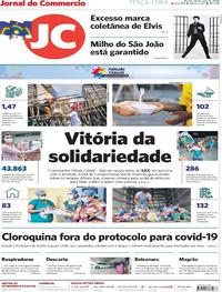 Capa do jornal Jornal do Commercio 26/05/2020
