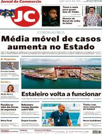Capa do jornal Jornal do Commercio 29/10/2020