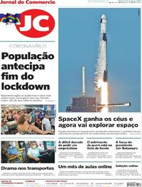 Capa do jornal Jornal do Commercio 31/05/2020