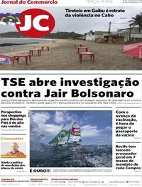 Capa do jornal Jornal do Commercio 03/08/2021