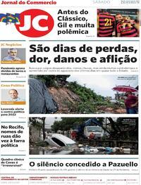 Capa do jornal Jornal do Commercio 15/05/2021