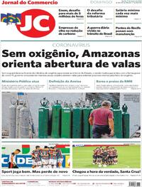 Capa do jornal Jornal do Commercio 17/01/2021