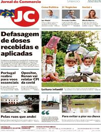Capa do jornal Jornal do Commercio 17/04/2021