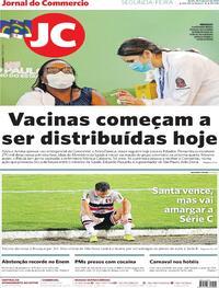 Capa do jornal Jornal do Commercio 18/01/2021