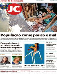 Capa do jornal Jornal do Commercio 18/04/2021
