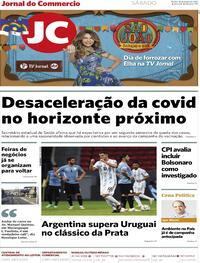 Capa do jornal Jornal do Commercio 19/06/2021