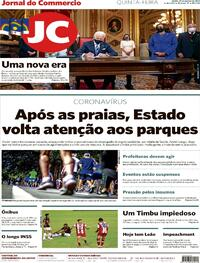 Capa do jornal Jornal do Commercio 21/01/2021