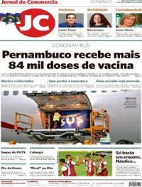 Capa do jornal Jornal do Commercio 24/01/2021