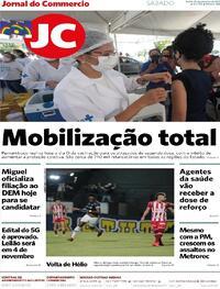 Capa do jornal Jornal do Commercio 25/09/2021
