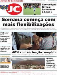 Capa do jornal Jornal do Commercio 27/09/2021