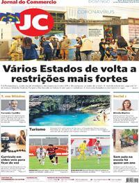 Capa do jornal Jornal do Commercio 28/02/2021