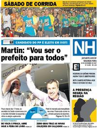 Capa Jornal NH 2017-11-20