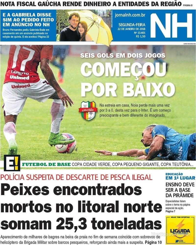 Capa Jornal NH 2018-01-22