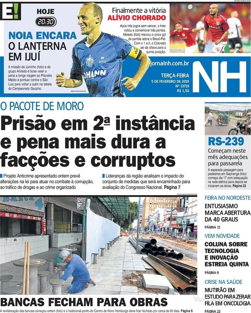 Capa Jornal NH 2019-02-05 8345e5a0b8540