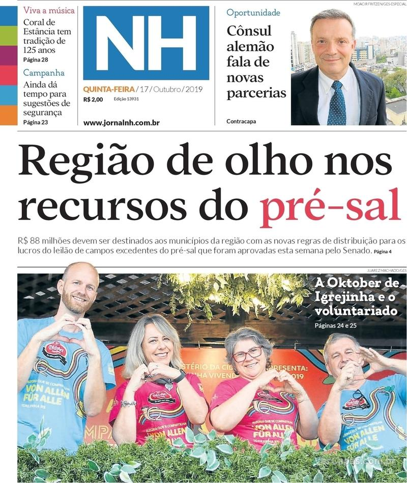 Capa jornal Jornal NH