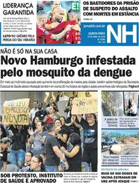 Capa Jornal NH 2019-04-25