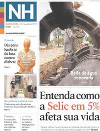 Capa Jornal NH 2019-11-14