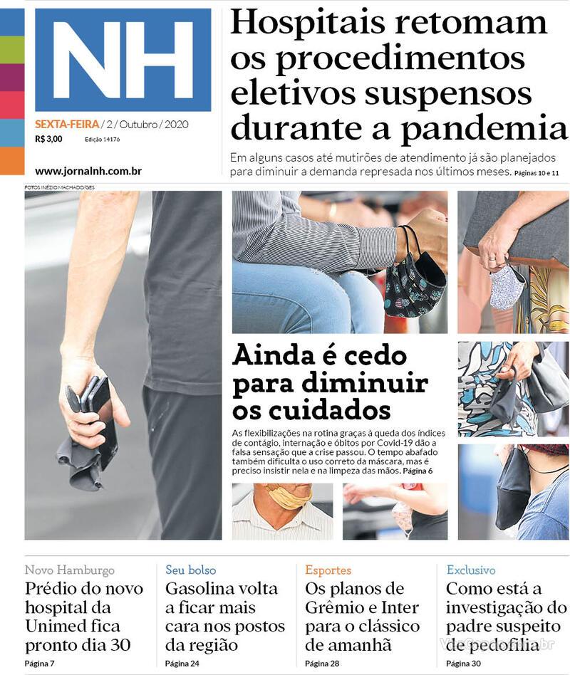 Capa do jornal Jornal NH 02/10/2020