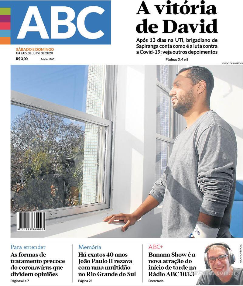 Capa do jornal Jornal NH 04/07/2020