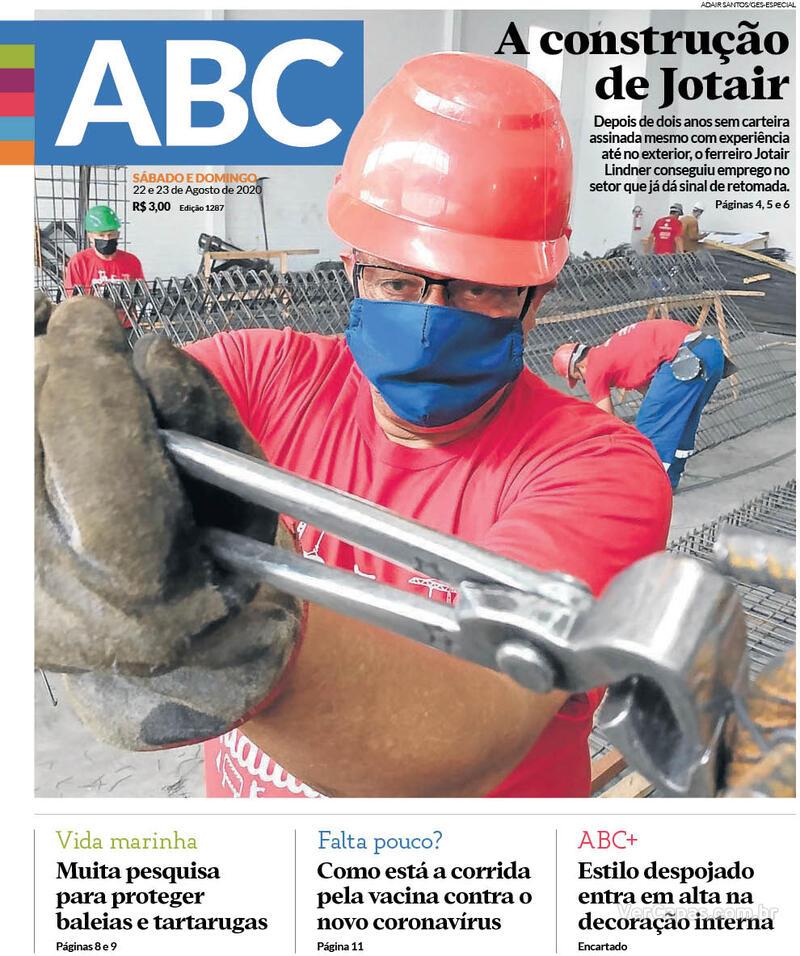 Capa do jornal Jornal NH 22/08/2020