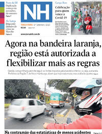 Capa do jornal Jornal NH 01/09/2020