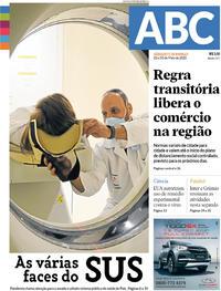 Capa do jornal Jornal NH 02/05/2020