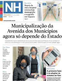 Capa do jornal Jornal NH 02/06/2020