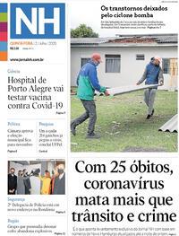 Capa do jornal Jornal NH 02/07/2020