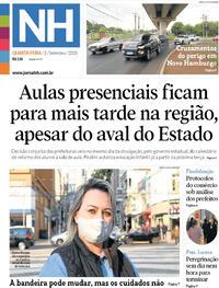 Capa do jornal Jornal NH 02/09/2020