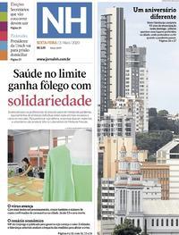 Capa do jornal Jornal NH 03/04/2020