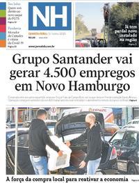 Capa do jornal Jornal NH 03/06/2020