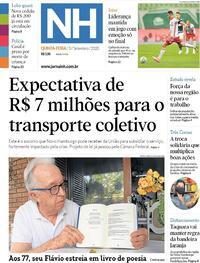 Capa do jornal Jornal NH 03/09/2020