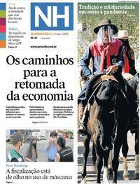 Capa do jornal Jornal NH 04/05/2020