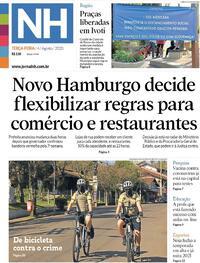 Capa do jornal Jornal NH 04/08/2020
