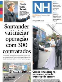 Capa do jornal Jornal NH 04/09/2020