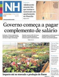 Capa do jornal Jornal NH 06/05/2020