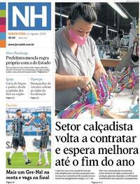 Capa do jornal Jornal NH 06/08/2020
