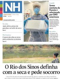 Capa do jornal Jornal NH 07/05/2020