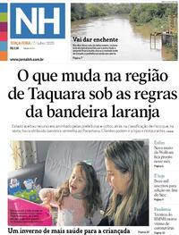 Capa do jornal Jornal NH 07/07/2020