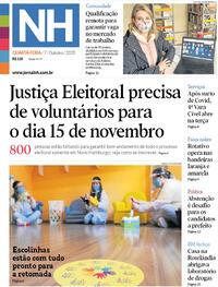 Capa do jornal Jornal NH 07/10/2020