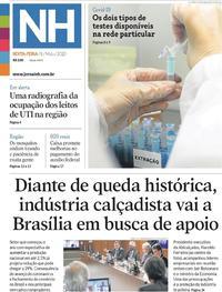 Capa do jornal Jornal NH 08/05/2020