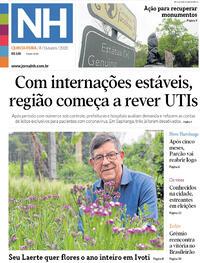 Capa do jornal Jornal NH 08/10/2020