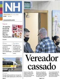 Capa do jornal Jornal NH 09/06/2020