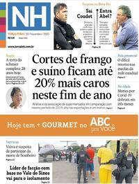 Capa do jornal Jornal NH 10/11/2020