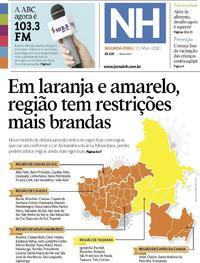 Capa do jornal Jornal NH 11/05/2020