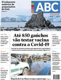 Capa do jornal Jornal NH 11/07/2020