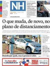 Capa do jornal Jornal NH 11/08/2020