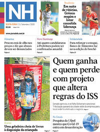 Capa do jornal Jornal NH 11/09/2020